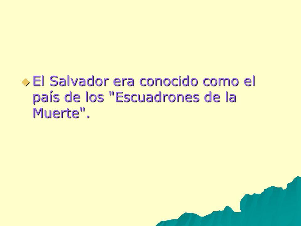 El Salvador era conocido como el país de los