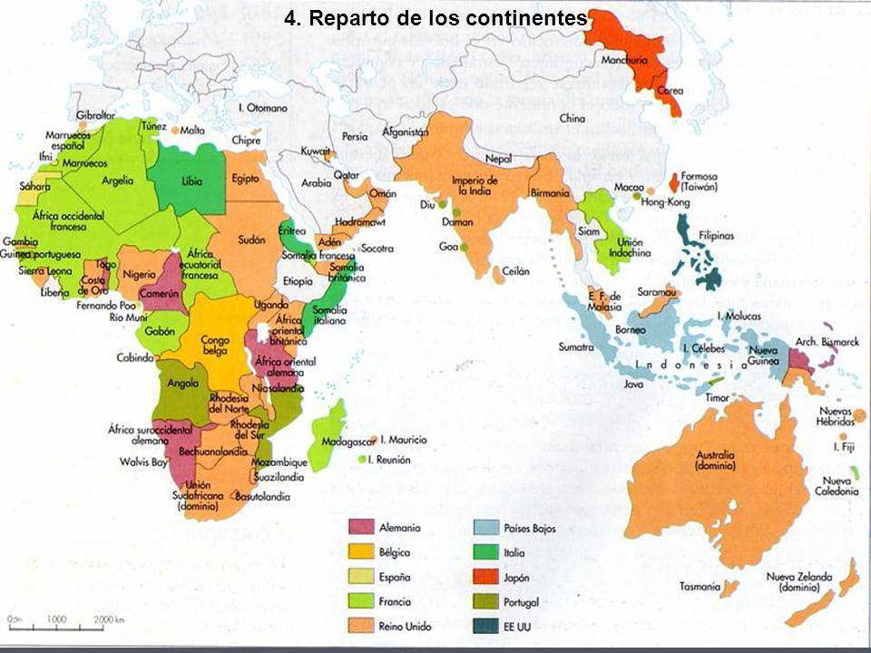 4. Reparto de los continentes