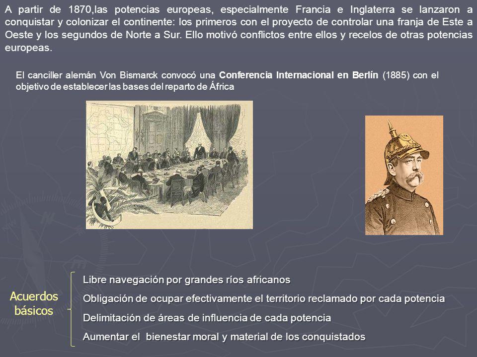 A partir de 1870,las potencias europeas, especialmente Francia e Inglaterra se lanzaron a conquistar y colonizar el continente: los primeros con el pr