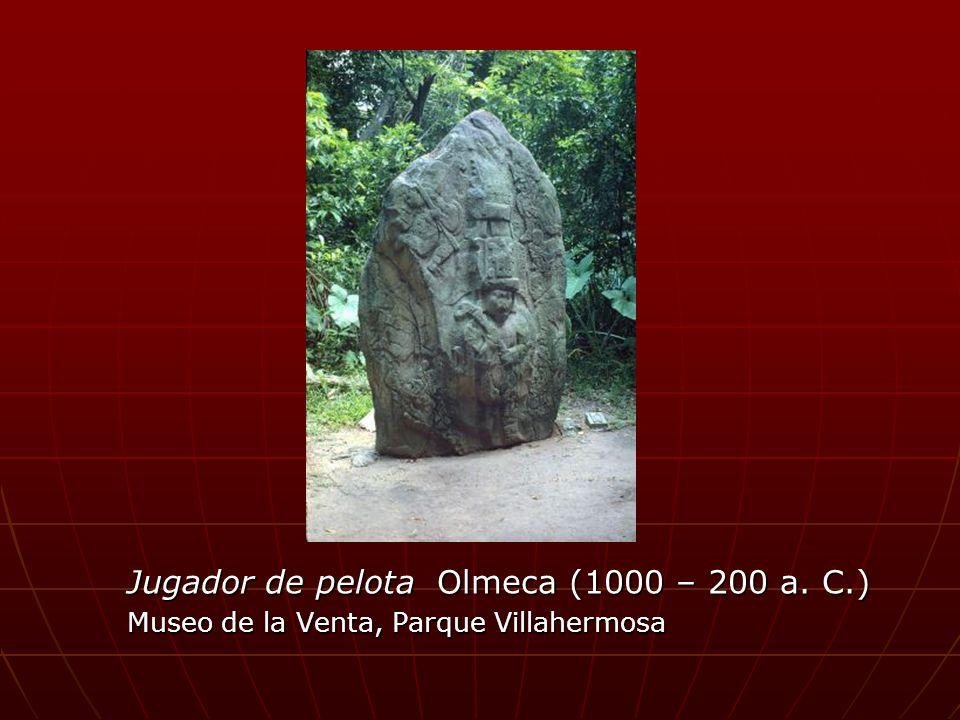 Jugador de pelota Olmeca (1000 – 200 a. C.) Museo de la Venta, Parque Villahermosa