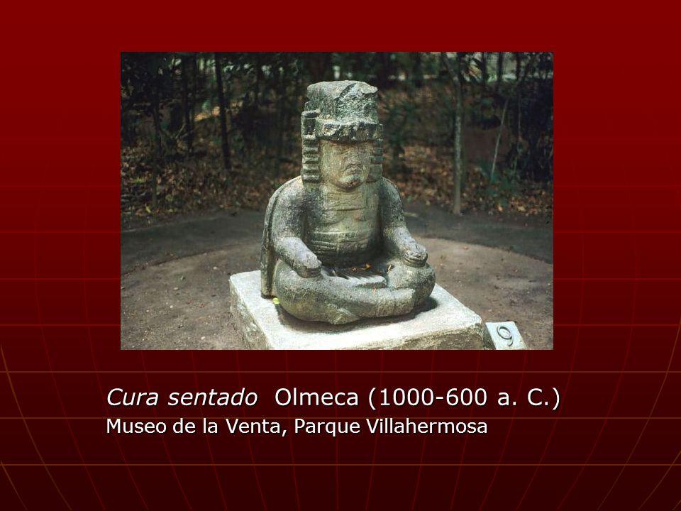 Cura sentado Olmeca (1000-600 a. C.) Museo de la Venta, Parque Villahermosa