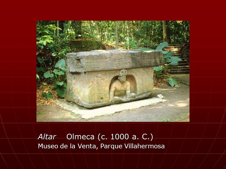 Altar Olmeca (c. 1000 a. C.) Museo de la Venta, Parque Villahermosa