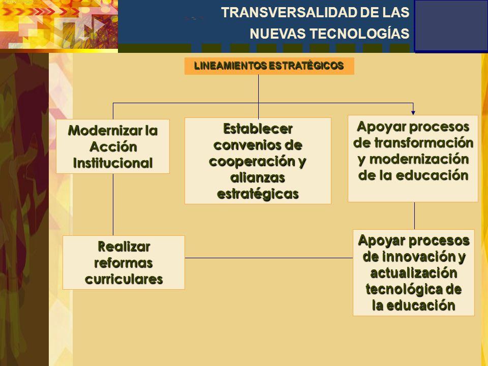 Aplicar la inserción del eje transversal de nuevas tecnologías de la información y la comunicación en educación, como una manera de viabilizar los contenidos y metodologías transversales.