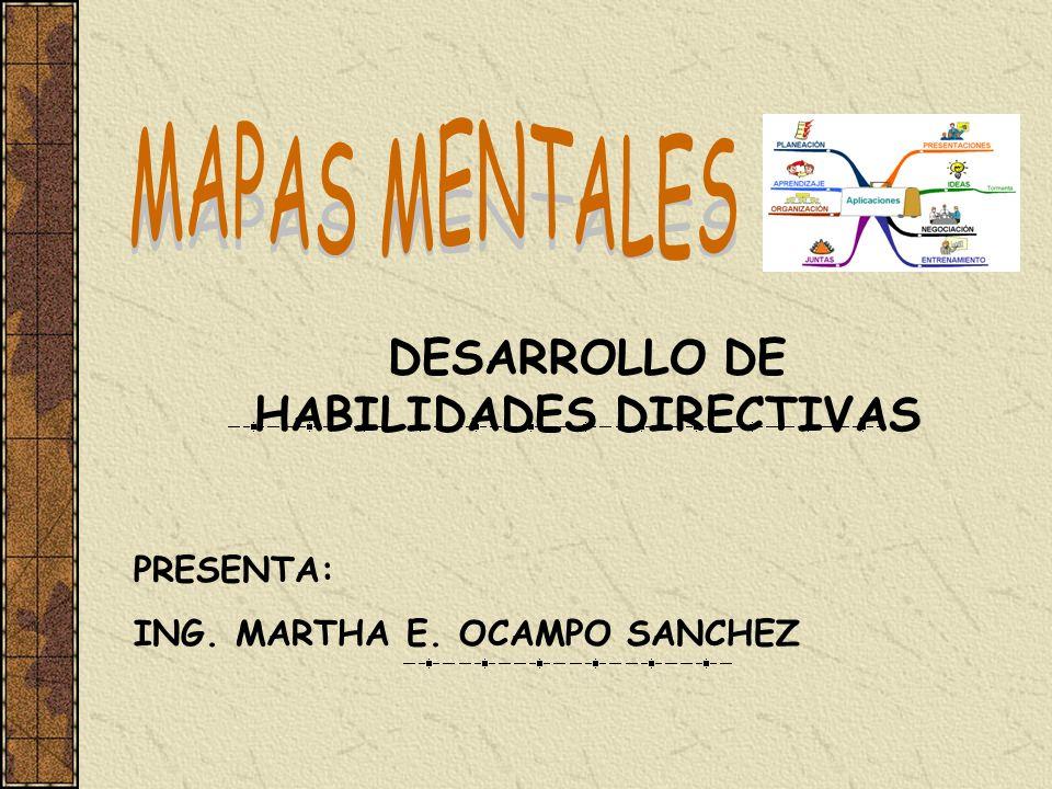 DESARROLLO DE HABILIDADES DIRECTIVAS PRESENTA: ING. MARTHA E. OCAMPO SANCHEZ