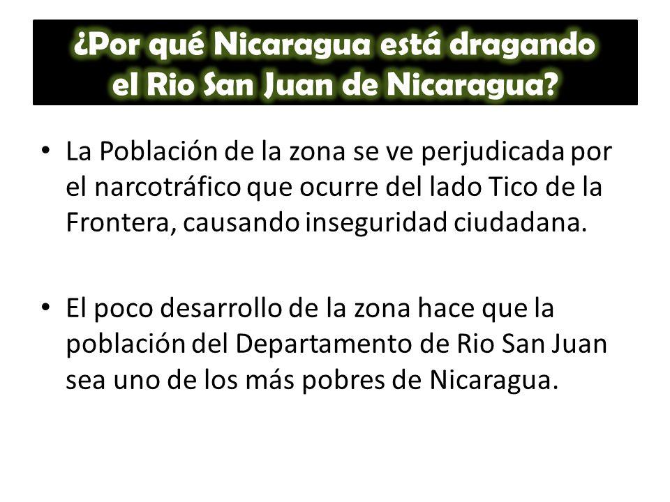La Población de la zona se ve perjudicada por el narcotráfico que ocurre del lado Tico de la Frontera, causando inseguridad ciudadana. El poco desarro