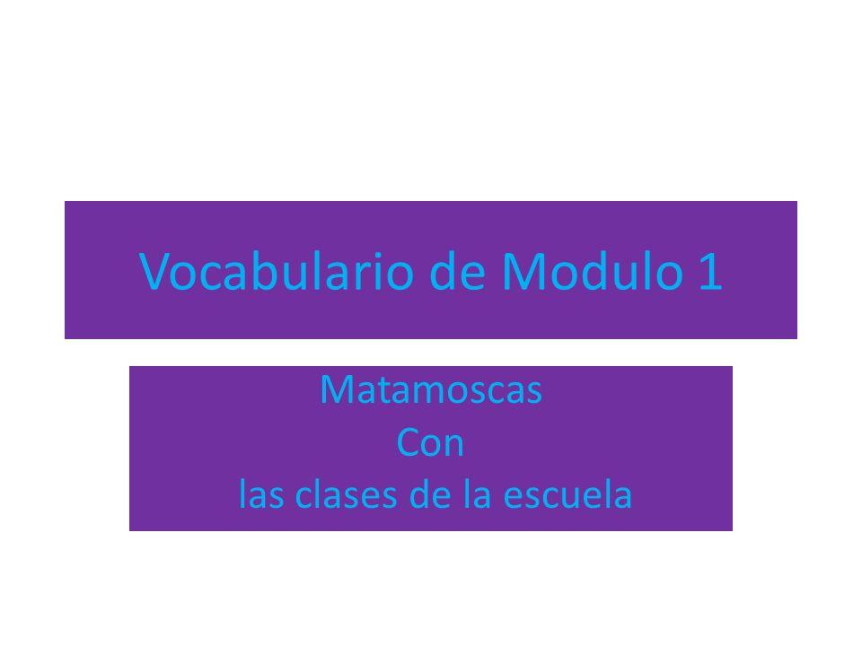 Vocabulario de Modulo 1 Matamoscas Con las clases de la escuela