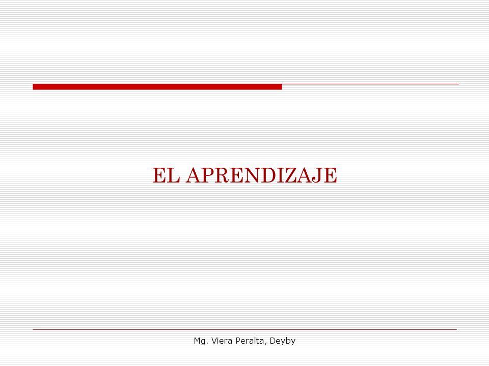EL APRENDIZAJE Mg. Viera Peralta, Deyby