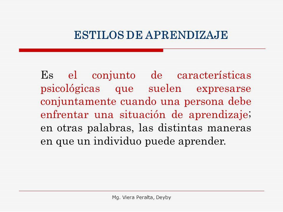 Mg. Viera Peralta, Deyby Es el conjunto de características psicológicas que suelen expresarse conjuntamente cuando una persona debe enfrentar una situ