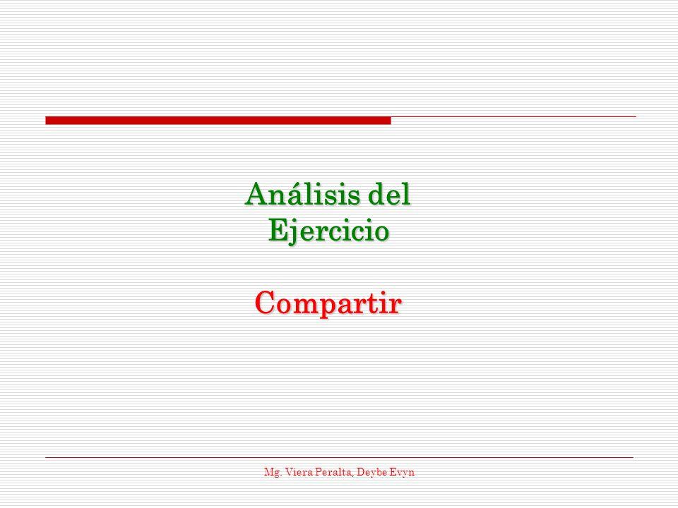 Análisis del Ejercicio Compartir Mg. Viera Peralta, Deybe Evyn