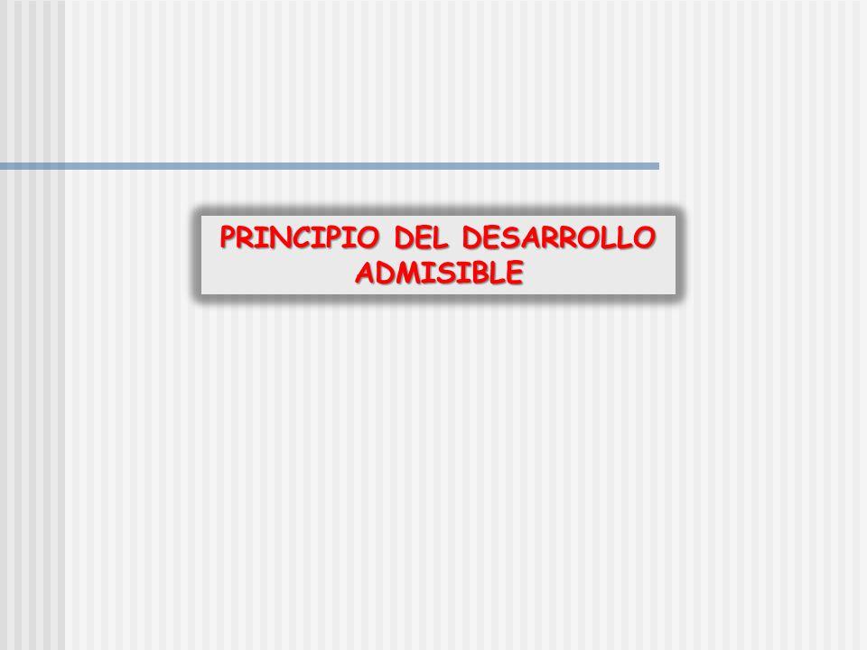 PRINCIPIO DEL DESARROLLO ADMISIBLE