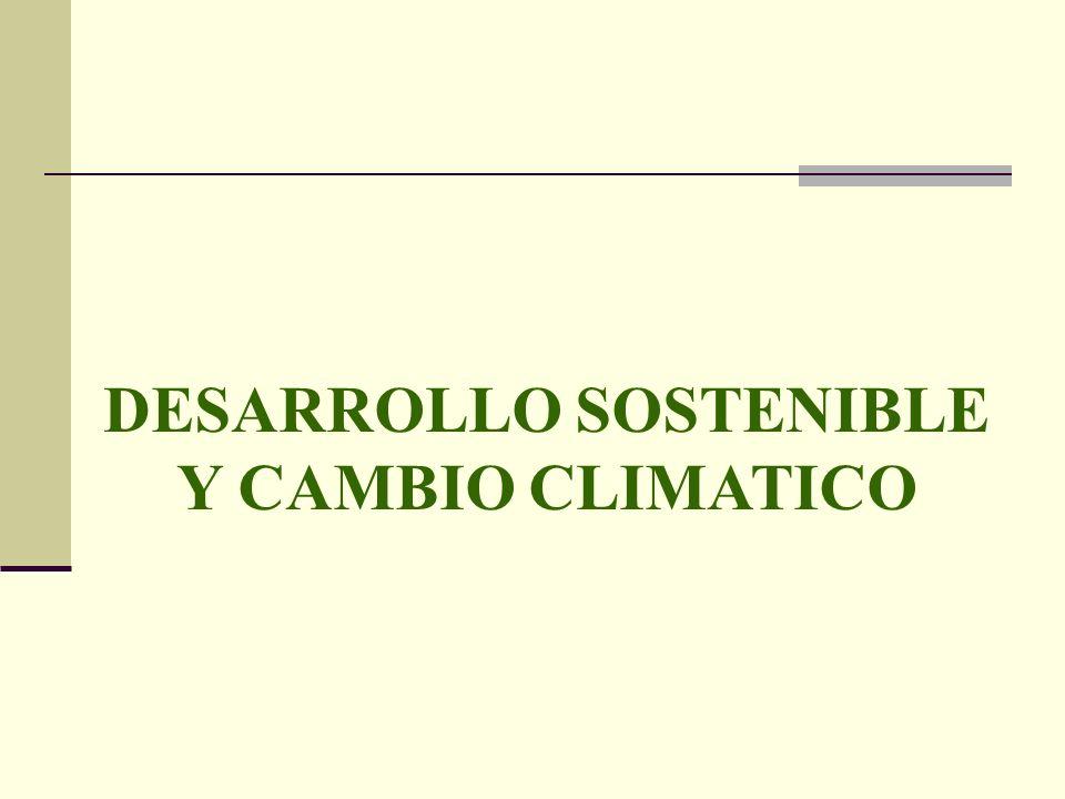 DESARROLLO SOSTENIBLE Y CAMBIO CLIMATICO