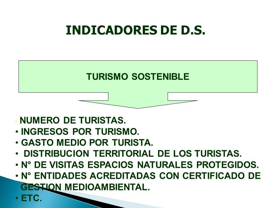 TURISMO SOSTENIBLE NUMERO DE TURISTAS. INGRESOS POR TURISMO.