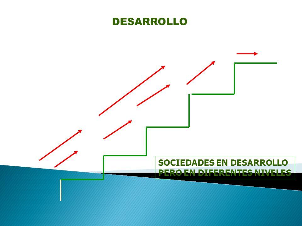 SOCIEDADES EN DESARROLLO PERO EN DIFERENTES NIVELES DESARROLLO