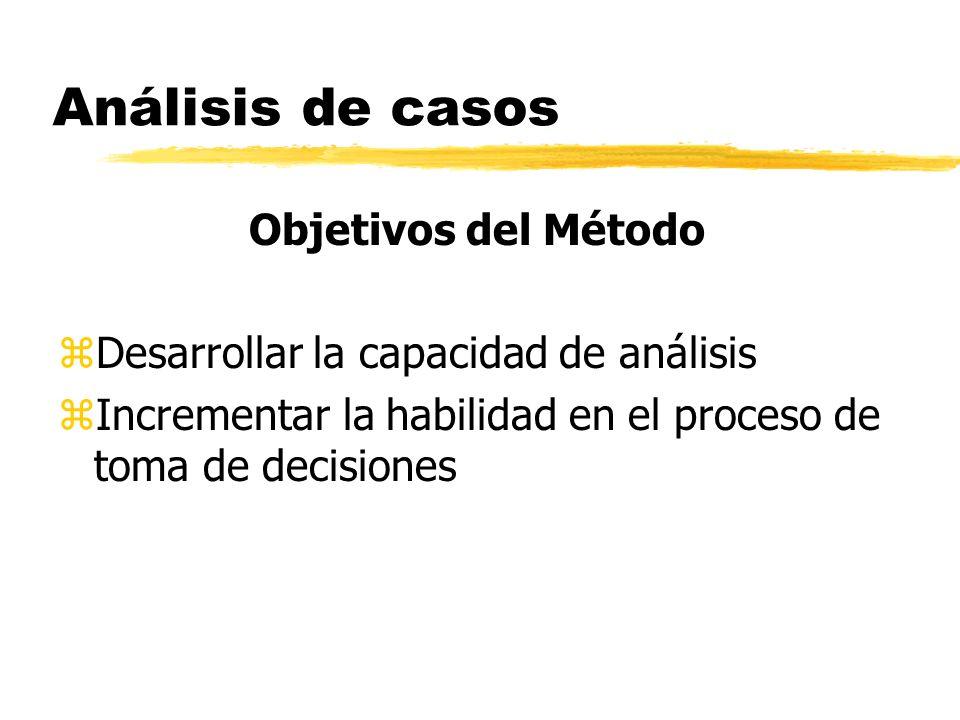 Análisis de Casos Decisión Escoger la alternativa que con el menor costo posible resuelve el problema