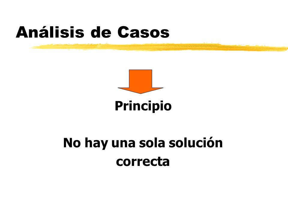 Análisis de Casos Principio No hay una sola solución correcta