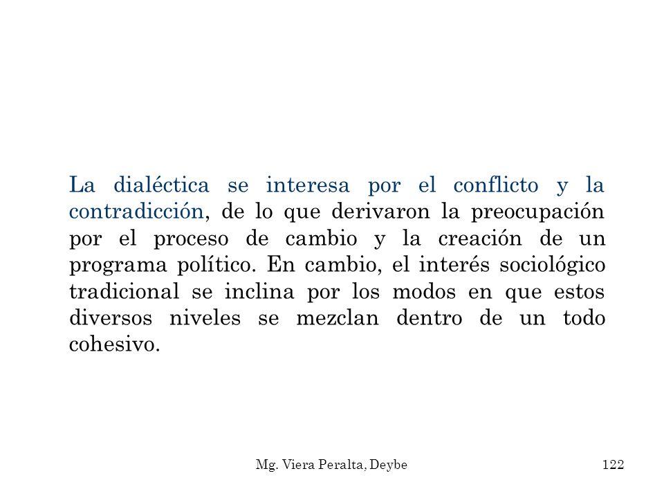 La dialéctica se interesa por el conflicto y la contradicción, de lo que derivaron la preocupación por el proceso de cambio y la creación de un progra