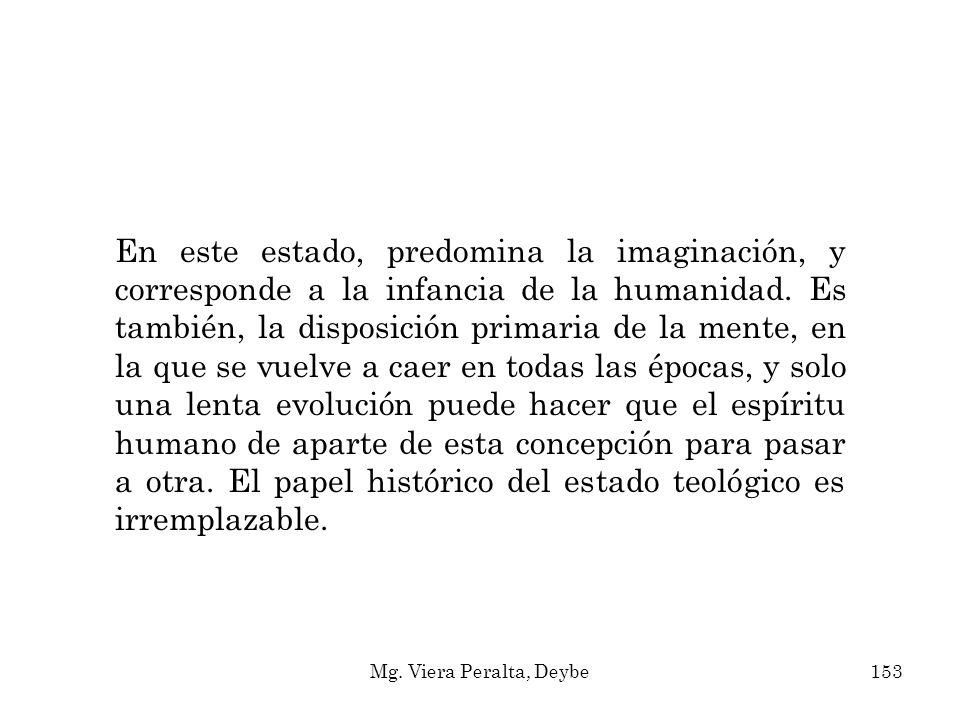 En este estado, predomina la imaginación, y corresponde a la infancia de la humanidad. Es también, la disposición primaria de la mente, en la que se v