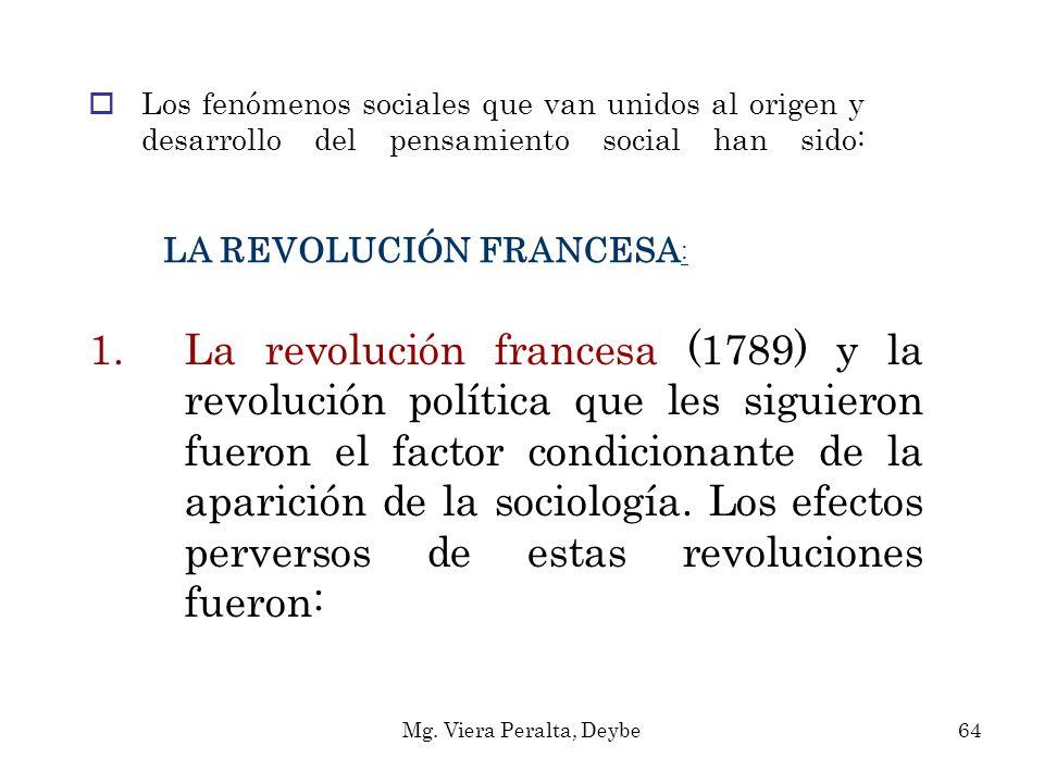 LA REVOLUCIÓN FRANCESA : 1.La revolución francesa (1789) y la revolución política que les siguieron fueron el factor condicionante de la aparición de