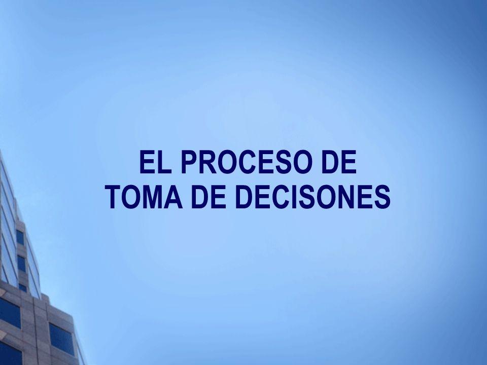 EL PROCESO DE TOMA DE DECISONES