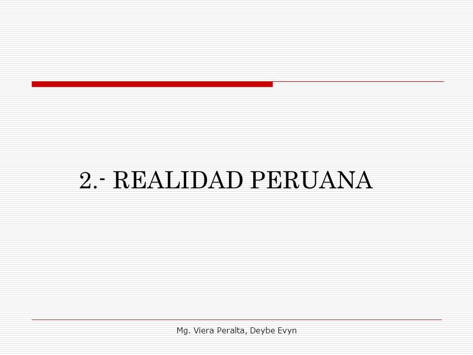 2.- REALIDAD PERUANA Mg. Viera Peralta, Deybe Evyn
