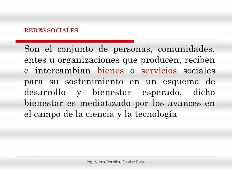 Son el conjunto de personas, comunidades, entes u organizaciones que producen, reciben e intercambian bienes o servicios sociales para su sostenimient