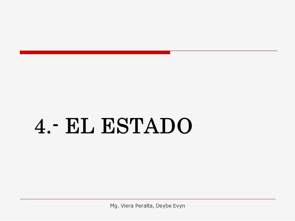 4.- EL ESTADO Mg. Viera Peralta, Deybe Evyn
