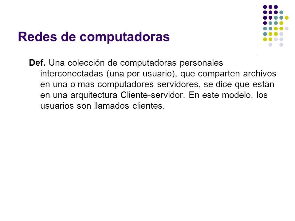 Def.Un sistema distribuido consiste en un sistema de software construido sobre la red.
