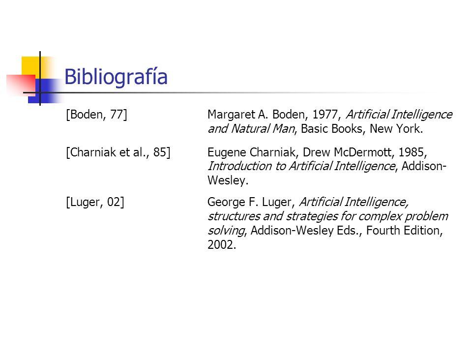[Boden, 77]Margaret A. Boden, 1977, Artificial Intelligence and Natural Man, Basic Books, New York. [Charniak et al., 85] Eugene Charniak, Drew McDerm