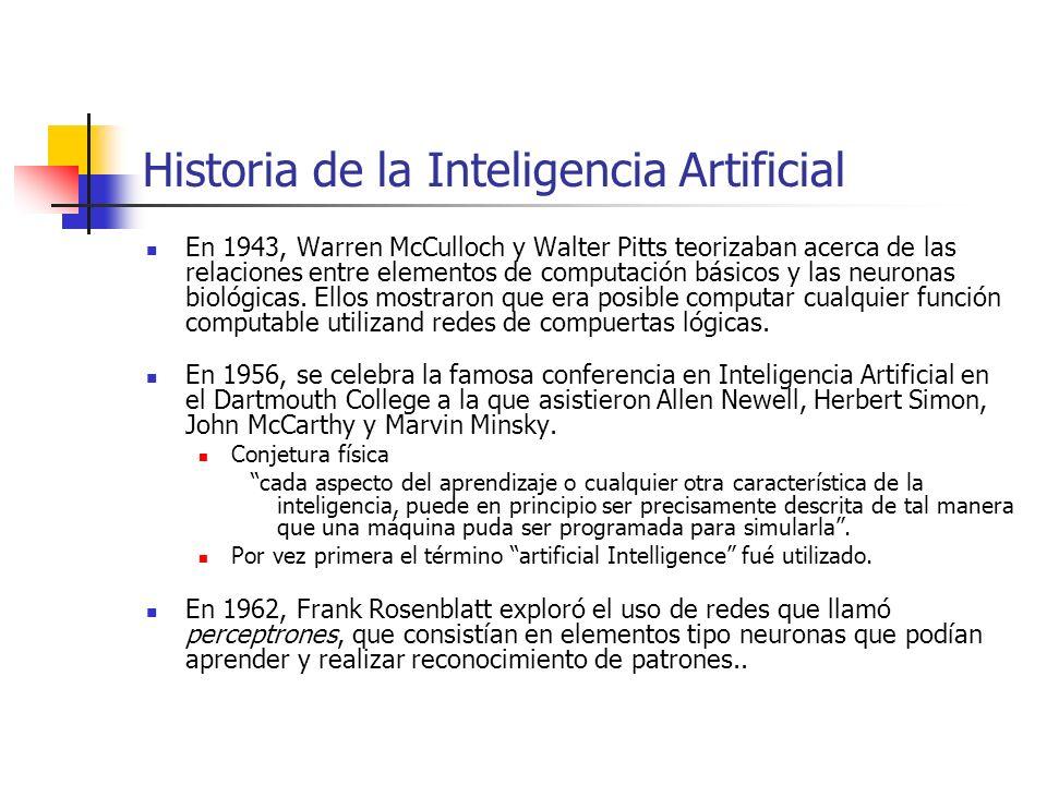 Mucho del trabajo inicial en IA (60s y 70s) exploraba una variedad de representación de problemas, técnicas de búsqueda y heurísticas generales.