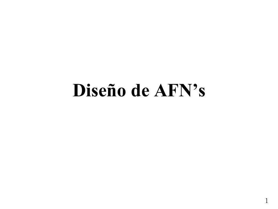 1 Diseño de AFNs