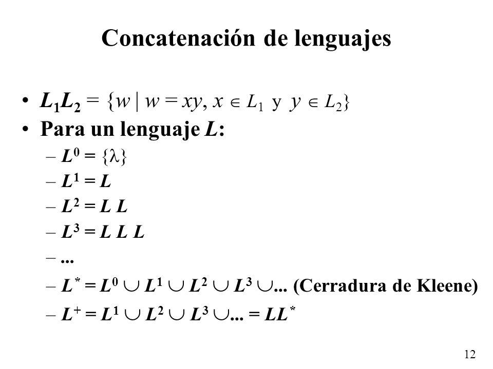 11 ¿Es suficiente la recursividad? Hay muchos lenguajes que se pueden definir recursivamente, sin embargo, hay muchos otros, como lenguajes computacio