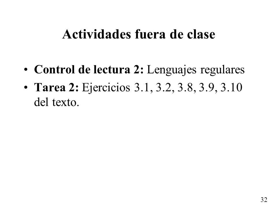 31 Ejemplo de un lenguaje no regular {a n b n | n 0}