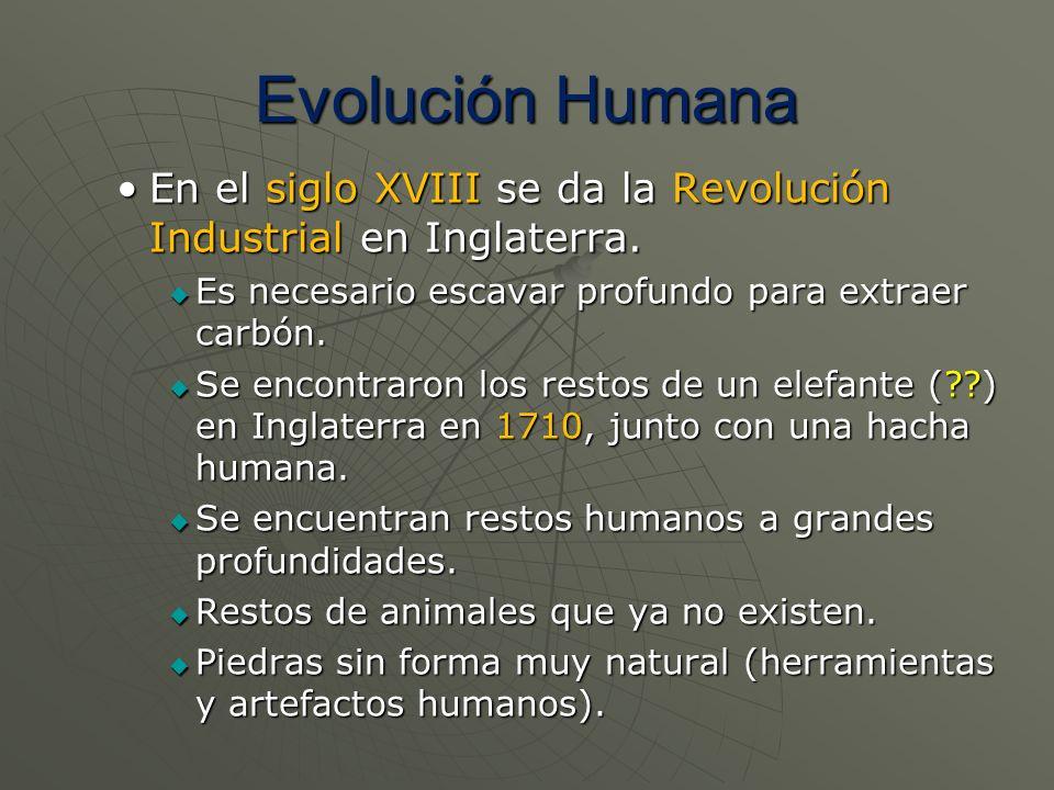 Evolución Humana En el siglo XVIII se da la Revolución Industrial en Inglaterra.En el siglo XVIII se da la Revolución Industrial en Inglaterra. Es nec
