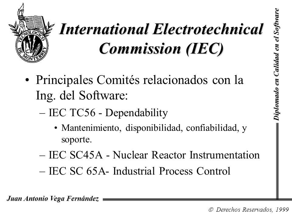 Diplomado en Calidad en el Software Derechos Reservados, 1999 Juan Antonio Vega Fernández Principales Comités relacionados con la Ing.