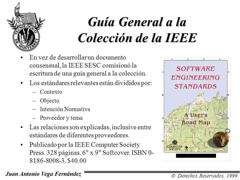 Guía General a la Colección de la IEEE En vez de desarrollar un documento consensual, la IEEE SESC comisionó la escritura de una guía general a la col
