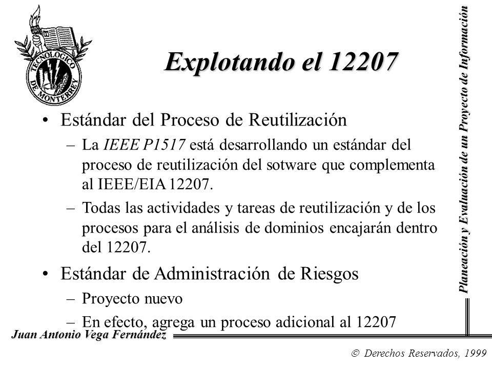Derechos Reservados, 1999 Juan Antonio Vega Fernández Planeación y Evaluación de un Proyecto de Información Explotando el 12207 Estándar del Proceso d