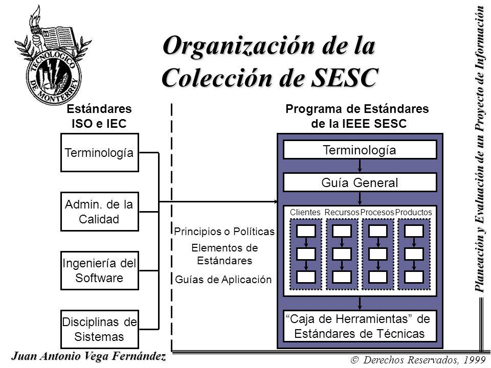 Organización de la Colección de SESC Guía General Terminología Caja de Herramientas de Estándares de Técnicas ClientesRecursosProcesosProductos Princi