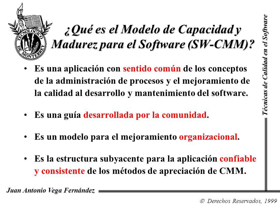 Técnicas de Calidad en el Software Derechos Reservados, 1999 Juan Antonio Vega Fernández Es una aplicación con sentido común de los conceptos de la ad