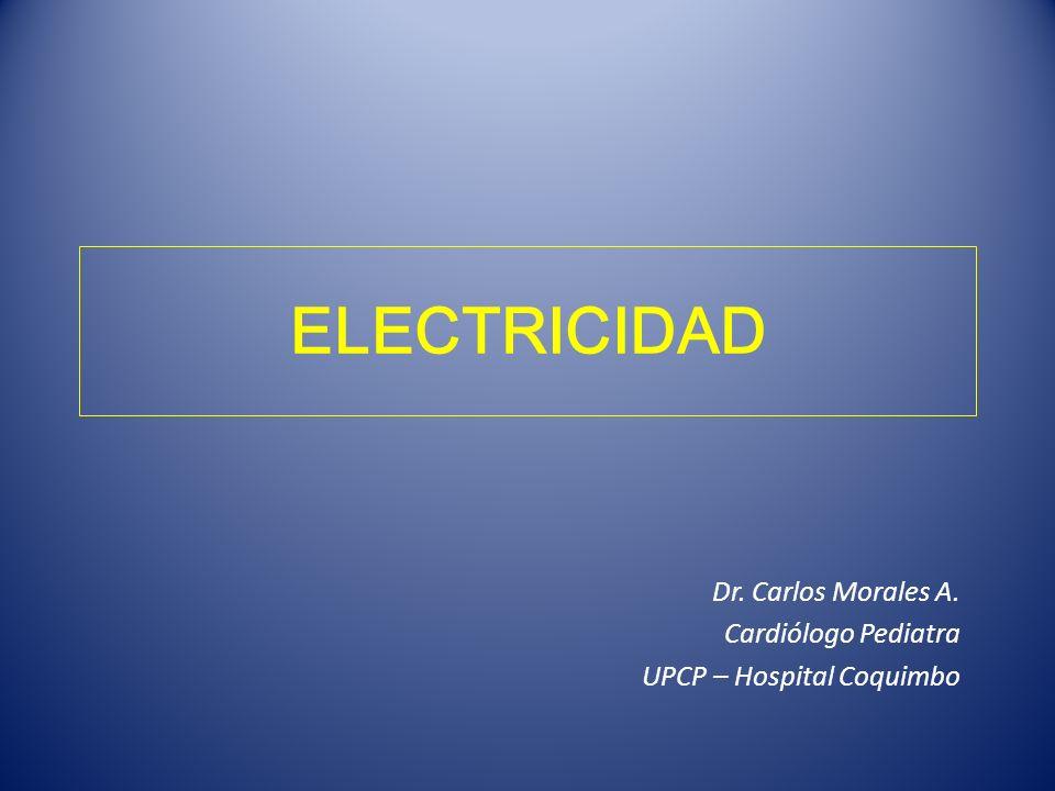 ELECTRICIDAD Dr. Carlos Morales A. Cardiólogo Pediatra UPCP – Hospital Coquimbo