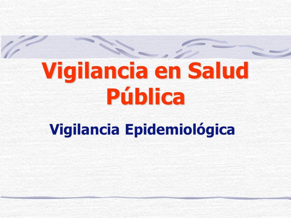 Vigilancia en Salud Pública Vigilancia Epidemiológica