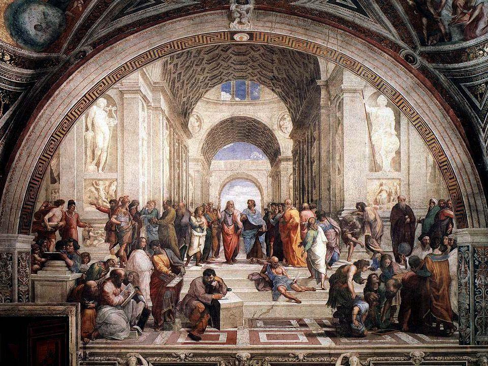 Apuntes Prof. Luis Eduardo Falcón La Escuela de Atenas Sócrates (de verde) --- Platón --- Aristóteles Hypatia (de blanco) Pitágoras --- Arquímedes ---