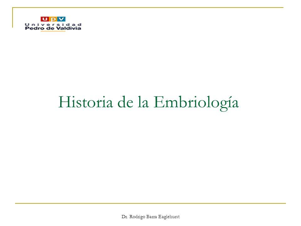 Dr. Rodrigo Barra Eaglehurst Historia de la Embriología