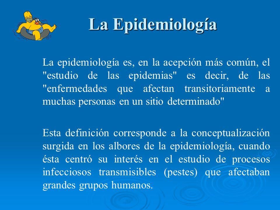 La Epidemiología La Epidemiología La epidemiología es, en la acepción más común, el