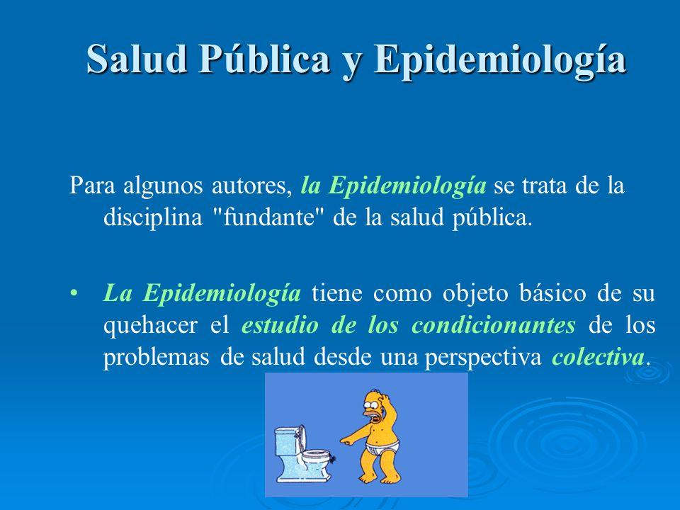 Salud Pública y Epidemiología Salud Pública y Epidemiología Para algunos autores, la Epidemiología se trata de la disciplina