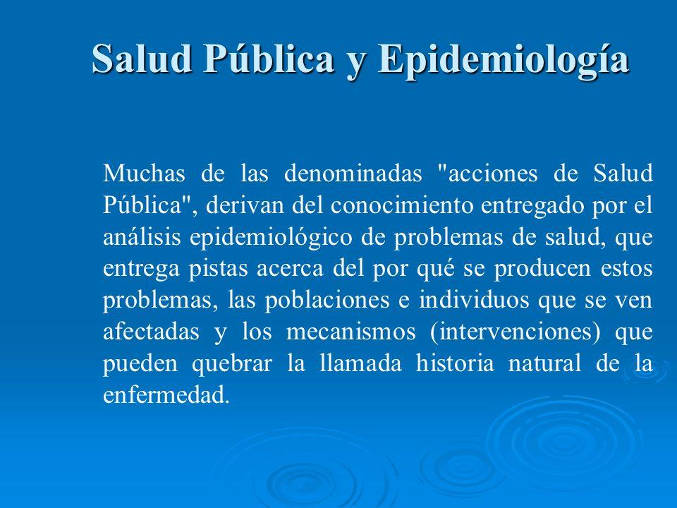 Salud Pública y Epidemiología Salud Pública y Epidemiología Muchas de las denominadas