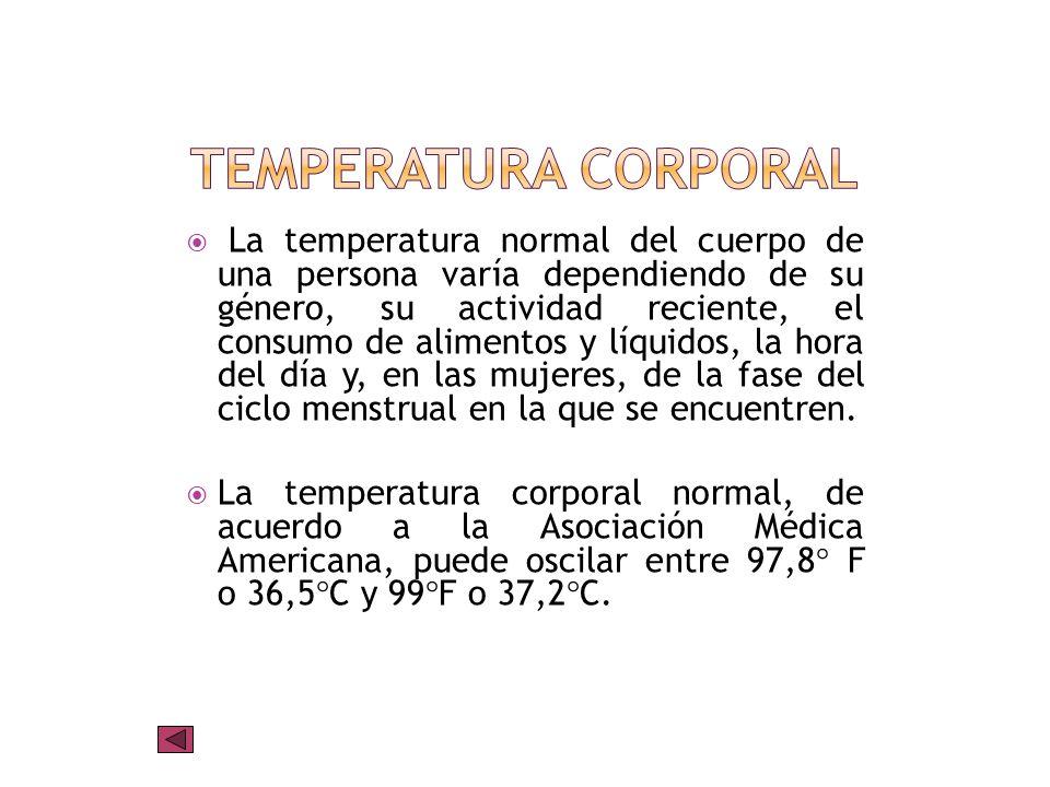La determinación de la temperatura corporal proporciona con frecuencia una indicación valiosa en cuanto a la gravedad de la patologia del paciente.