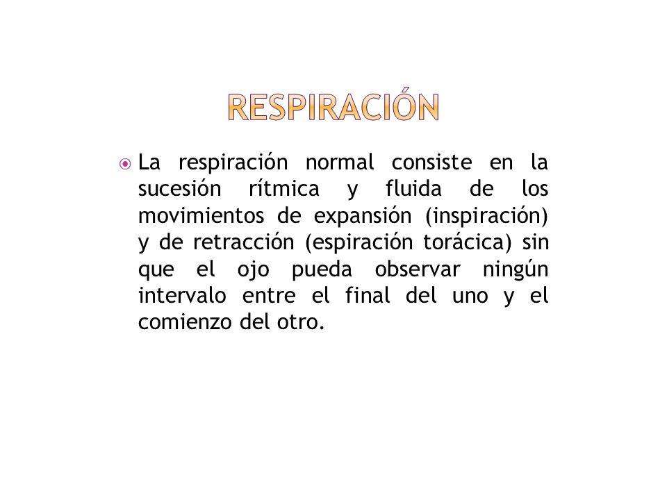 Respiración ¿Cómo se mide la frecuencia respiratoria? Tipos de respiración Valores normales Imágenes