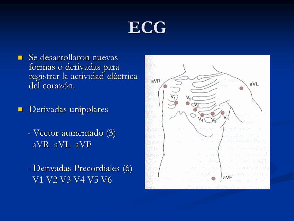 ECG Se desarrollaron nuevas formas o derivadas para registrar la actividad eléctrica del corazón. Se desarrollaron nuevas formas o derivadas para regi