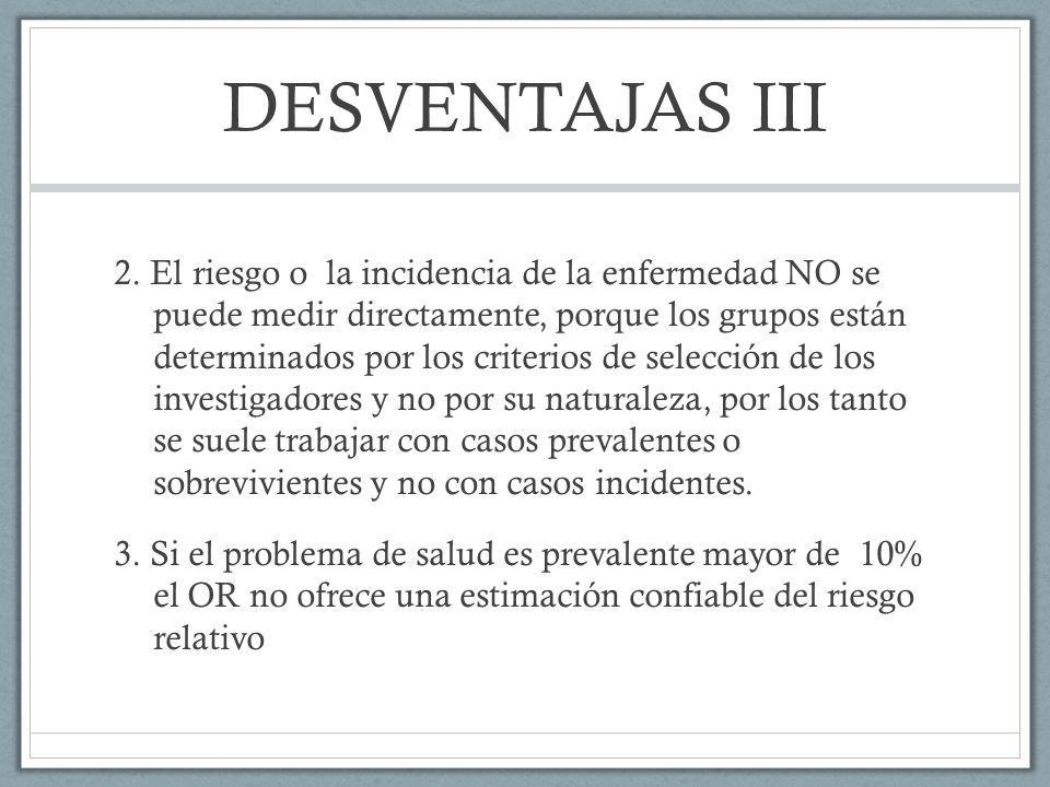 DESVENTAJAS III 2.