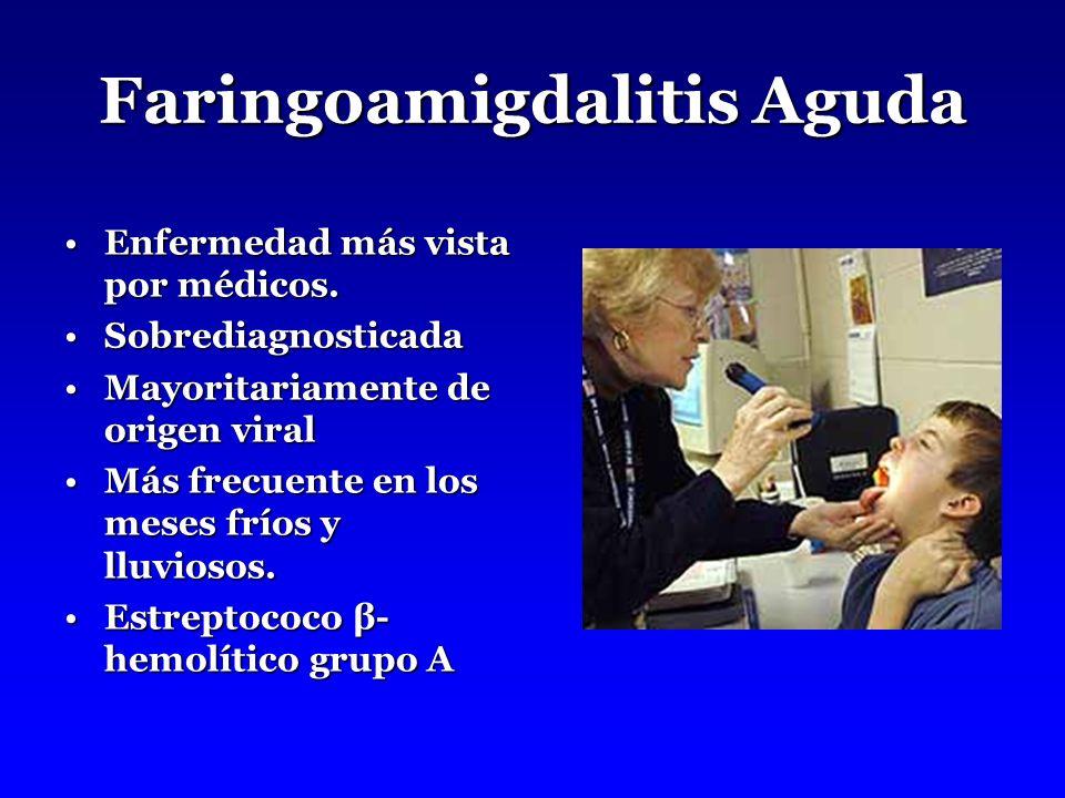 Faringoamigdalitis Aguda Enfermedad más vista por médicos.Enfermedad más vista por médicos.